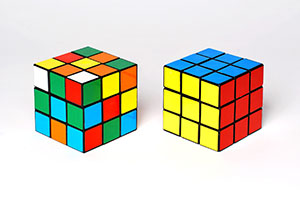 Two rubiks cubes