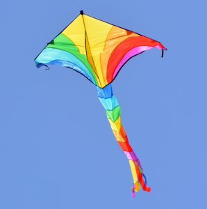 Rainbow colored kite
